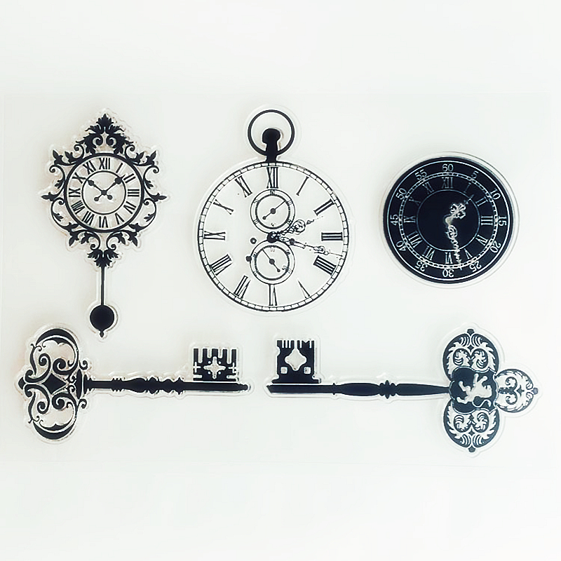 YLCS449 Clock Silicone Clear Stamps For Scrapbooking DIY Photo Album Cards Decoration Craft Transparent Stamp New