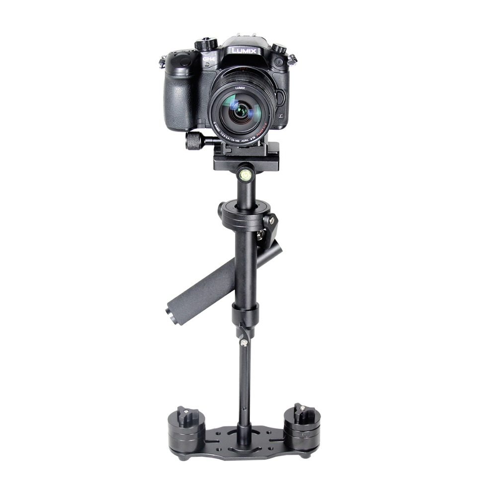 S40 Aluminum Alloy Mini Camera Stabilizer Handheld DSLR Steadicam Camera Video Support for Canon Nikon Sony Gopro viltrox yb 3m 3m professional extendable aluminum alloy strong camera video crane jib arm stabilizer for canon nikon sony dslr