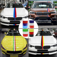 Germany Italy French Flag Striped M Colored Car Hood PVC Sticker Body Decal 3M 4M 5M