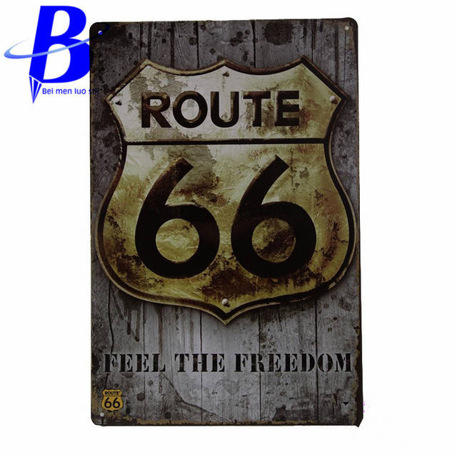 Vintage Tin Signs Route 66 Home Decor House Office Restaurant Bar Iron  Paintings K 05