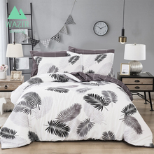 Northern Europe Simple Style Leaf Banana Leaves Printing Bedding Set Duvet Cover Pillowcases Sheet Home Textile bedclothes