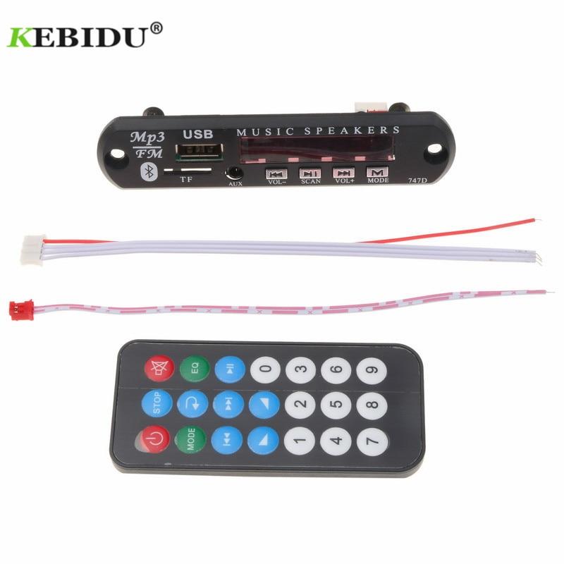 Mp3-player Selbstlos Kebidu Mp3 Player Dc 12 V 5 V Drahtlose Bluetooth Audio Modul Mp3 Wma Decoder Board Usb Fm Tf Radio Für Auto Mp3 Zubehör GroßE Sorten