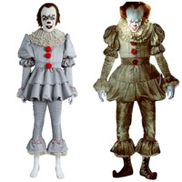 9157996f3806 Stephen King It 2017 Movie Pennywise Cosplay Halloween The Clown Costume  Outfit. Stephen King E 2017 Film Pennywise Cosplay Costume di ...