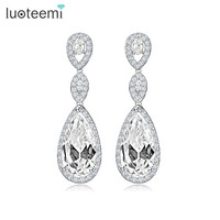 Women Luxury 1 8 Long Heavy AAA Cubic Zirconia Drop Dangle Earrings