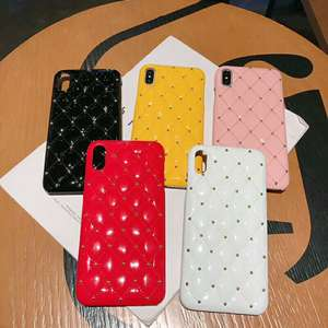 PU Leather Pattern Back Phone Case for iphone 7 8 6 6s plus Case Small fragrance Phone
