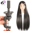 """Free Shipping! 26"""" Mannequin Head Hair Yaki Synthetic Maniqui Hairdressing Doll Heads Professional Styling Head Wig Head"""