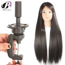 """Бесплатная доставка! 26 """"манекен головы волосы яки синтетических maniqui Парикмахерские головы куклы Профессиональный стайлинг головой парик голову"""
