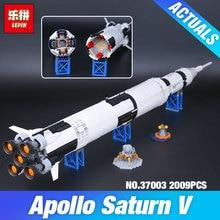 Lepin 37003 1969 Stücke Kreative Serie Die Apollo Saturn V Trägerrakete Set Kinder Educational Building Blocks Bricks Spielzeug 21309