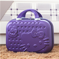 Hello Kitty Ms. Cosmetic Case/Business 14inch Travel Cosmetic Baggage/Girls Mini Suitcase/Student Portable Suitcase