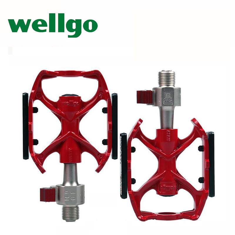 WELLGO QRD M232 new bicycle pedal ultralight quick release bike pedals mtb Mg alloy Cr Mo steel sealed bearing high quality 335g-in Bicycle Pedal from Sports & Entertainment    1