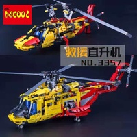 DECOOL Technic City Series 2 in 1 Helicopter Building Blocks Bricks Model Kids Toys Marvel Compatible Legoings LPS