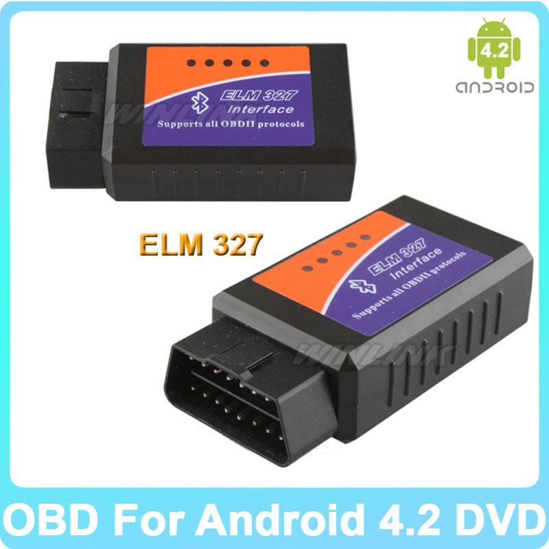 Seulement pour Ownice voiture DVD outil de Diagnostic de voiture chaude OBD II ELM327 ELM 327 Bluetooth lecteur de Code de Scanner d'interface de voiture