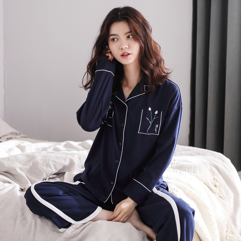 DANNSKARL New Cotton Pyjamas Women   Pajamas     Sets   Autumn Long Sleeve Cute Sleepwear Girl Pijamas Mujer Leisure Nightgown Woman