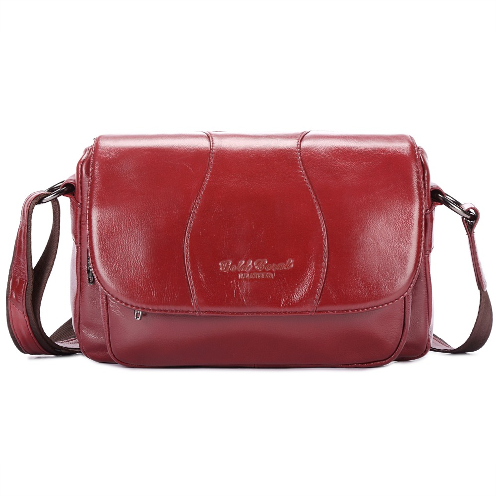 2018 HOT Item high quality Women Handbag Genuine Leather bags women messenger bag Vintage women bag Shoulder Cross body Bags 2017 fashion summer women shoulder bags leather high quality messenger bag boston flowers handbag cross body bags tote purse