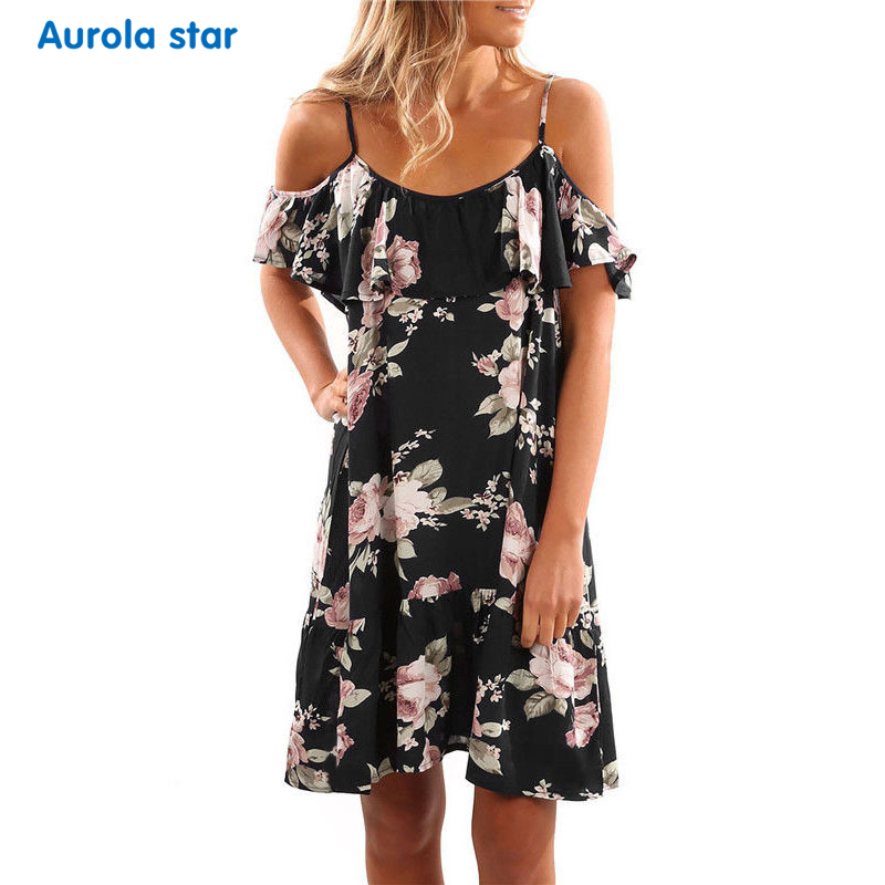 Maternity Summer Print Dress Party Pregnant Sling Ruffles Pregnancy Dresses Large Size Women Casual Boat Neck Maternity Clothing