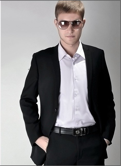 Aliexpress.com : Buy Mens black suits Slim Korean married genuine ...