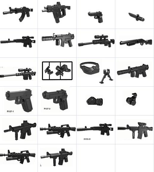 15pcs Decool technic military weapons accessories single purchase DIY MOC compatible legos parts