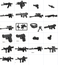 15pcs Decool technic military weapons accessories single purchase DIY MOC compatible legos parts