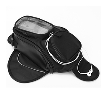 Dewtreetali new Oil Fuel Tank Bag Magnetic Motorcycle Motorbike Oil Fuel Tank Bag saddle Bag w/ Bigger Window Moto Accessory