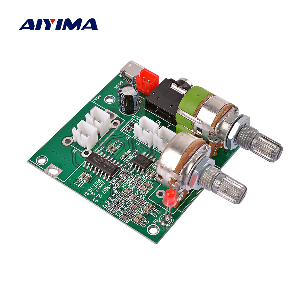 AIYIMA 5V Digital Audio Amplifier Board 20W 2.1 Channel Subwoofer Amplifier Board 3D Surround Sound Class D Amplificador