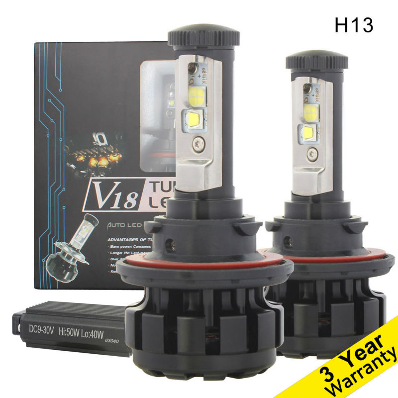 H13 Conversion Kit LED Bulb,100W/Set Car Hi/Low Beam Headlight,9008 LED Headlamps 12000LM/Set,with CREE Chip XHP50 XML2 12V 24V free shipping all in one car led headlight conversion kit 66w 6000lm h13 high low beam bulb super bright car styling led bulb