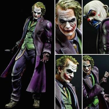 Chanycore The Joker 27cm 1pcs Bat Man The Dark Knight Rises Action Figure DC Comic Play Arts Kai Batman Anime Collection Model batman joker action figure play arts kai 260mm anime model toys batman playarts joker figure toy