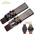 Натуральная Кожа ремешок для часов Наручные часы браслет ремешок Коричневый 22 24 26 28 30 мм наручные часы полосы для DZ7313 | DZ7322 | DZ7257