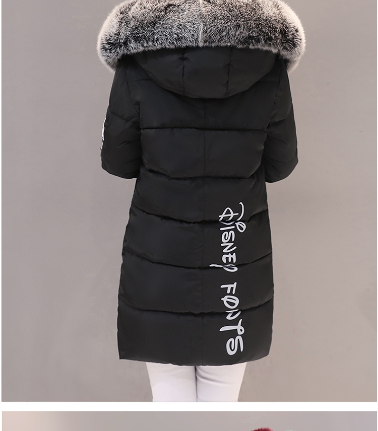 Parka Women Winter Coats Long Cotton Casual Fur Hooded Jackets Women Thick Warm Winter Parkas Female Overcoat Coat 19 MLD1268 13