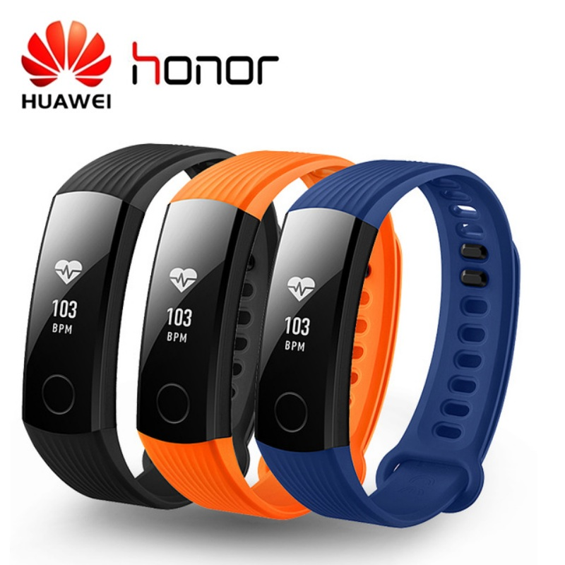 Huawei Honor Band 3 Smart Armband Swimmable 5ATM OLED Bildschirm Touchpad Kontinuierliche Herz Rate Monitor Push Nachricht Smartband