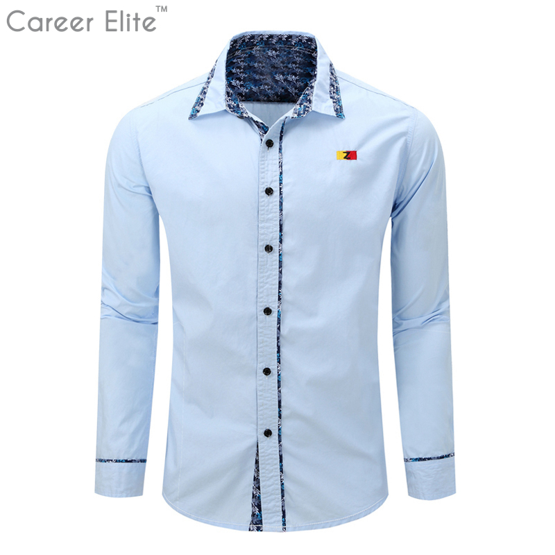 Men Cotton Shirts White Camisa Masculina Long Sleeve Chemise Homme Man Blusas Casual Camisetas Men Dress Shirts 2018 Hot Sale