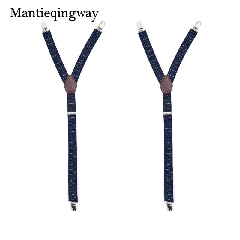 Mantieqingway 1Pair Men Shirt Suspenders Holder Business Navy Blue Shirt Stays Garters Socks Holders Suspenders Braces Belt