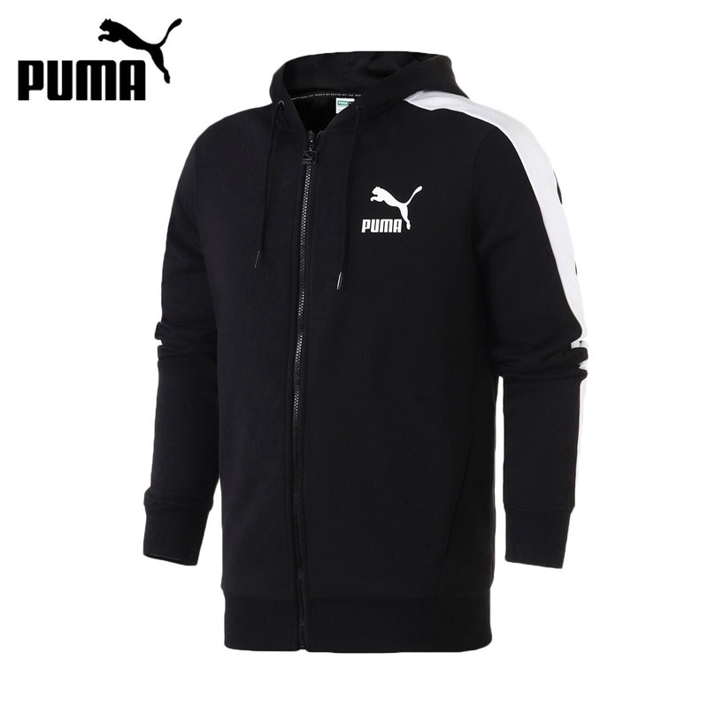 Original New Arrival 2018 PUMA Classics T7 Logo FZ Hoody Men's jacket Hooded Sportswear