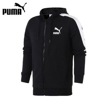 Original New Arrival 2018 PUMA Classics T7 Logo FZ Hoody Men's jacket Hooded Sportswear