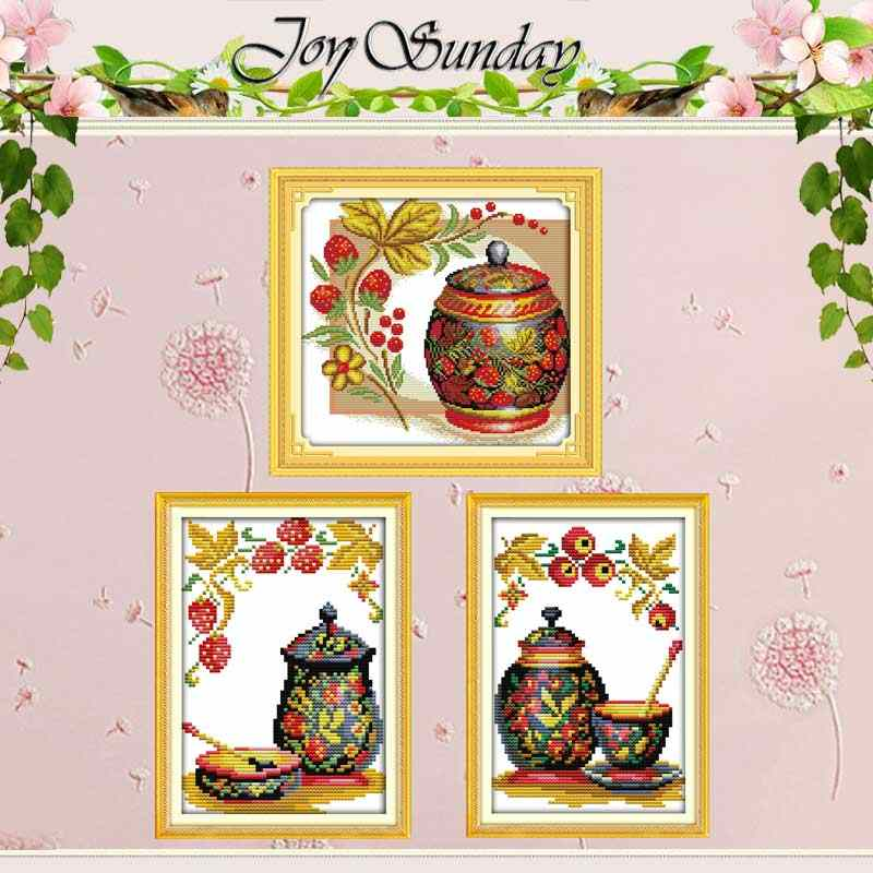 Coloured pottery Counted Cross Stitch 11CT 14CT Cross Stitch Set Wholesale DIY Chinese Cross-stitch Kits Embroidery Needlework