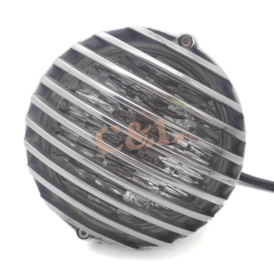 New Motorcycle Aluminum Cage Retro Scalloped Finned Headlight Grill Wiring Diagram Harley Evo Bobber For Davidson Chopper Custom On Alibaba Group