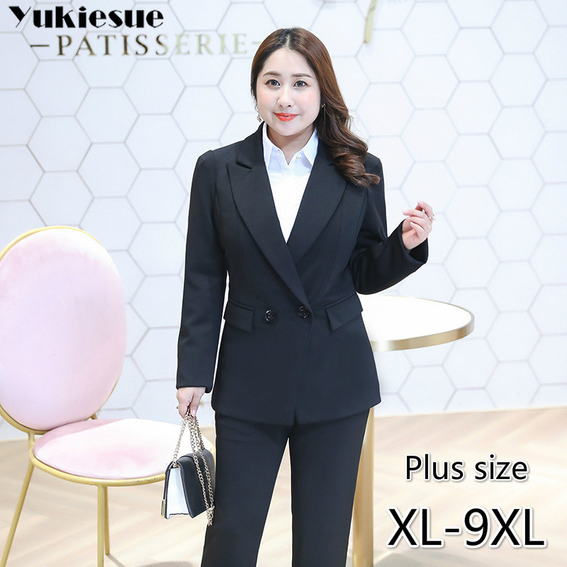OL Office Women's Jacket Suits &blazer Feminino Woman Coats For Women Blazers And Jackets Ladies Femme Mujer 2019 Plus Size 9XL