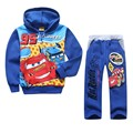 Cartoon Hoodies Set Fashion Autumn Cars Boys Clothing Set Sports Kids Sweatshirt Pants Zipper Warm Winter Cartoon Car Hoody Set