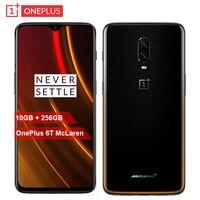 Original OnePlus 6T McLaren Mobile Phone 6.41inch 10G RAM 256G ROM Snapdragon 845 Octa Core 16MP+20MP Dual Camera NFC Smartphone