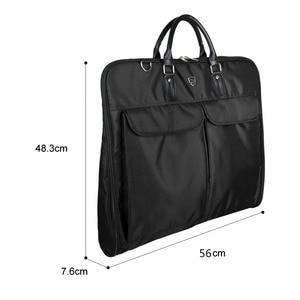 Image 4 - BAGSMART Waterproof Black Nylon Garment Bag With Handle Lightweight Suit Bag Business Men Travel Bags For Suits