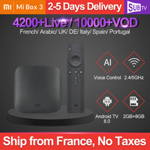 IPTV Italy Spain Xiaomi Mi Box 3 SUBTV Arabic France Danish Subscription Android 8.0 IP TV Portuguese French Full HD