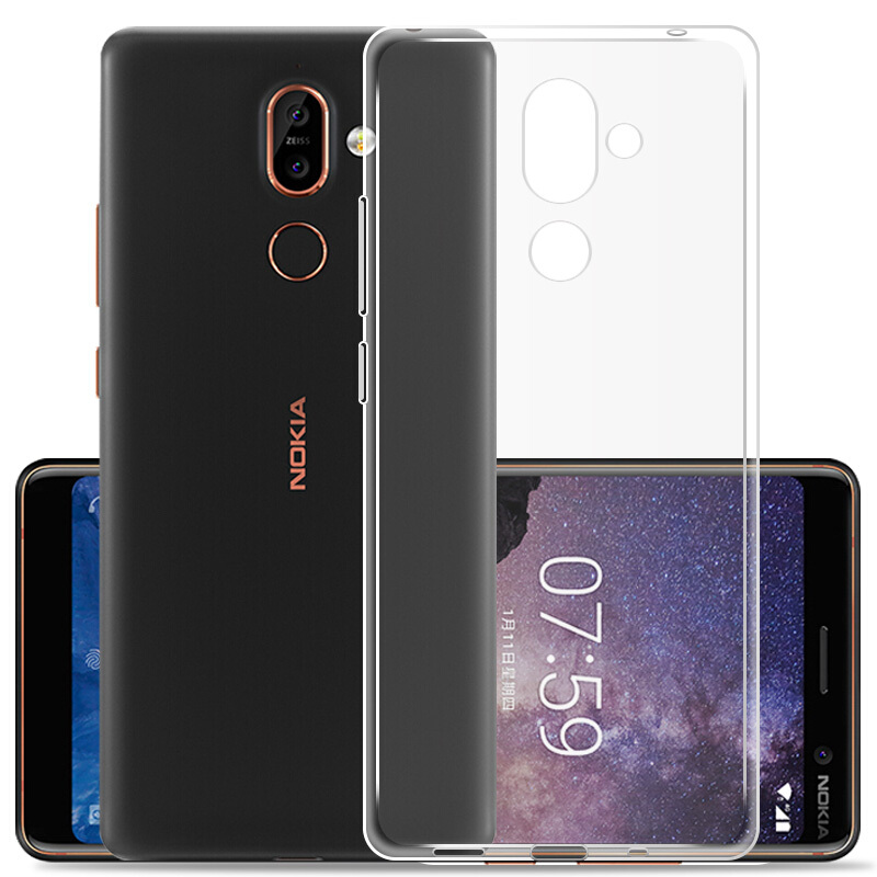 Case For <font><b>Nokia</b></font> <font><b>1</b></font> 2 <font><b>3</b></font> 5 6 <font><b>2018</b></font> 7 Plus 8 9 2.<font><b>1</b></font> <font><b>3</b></font>.<font><b>1</b></font> 5.<font><b>1</b></font> 6.<font><b>1</b></font> 7.<font><b>1</b></font> Plus Cover Transparent Clear TPU silicone soft Gel case kimTHmall image