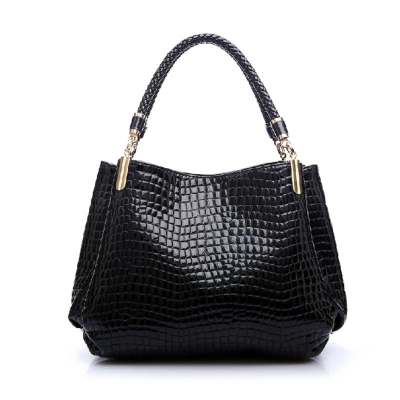 Tethys 2017 Luxury Alligator Leather Women Handbags Big Ladies Crocodile Bags Wo
