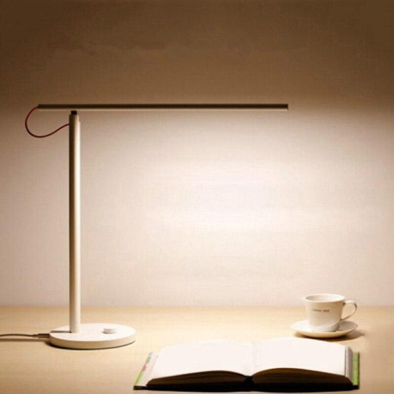 Умная Складная светодио дный Светодиодная настольная лампа с 4 режимами защиты глаз белого цвета
