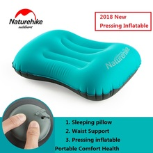 NatureHike Factory Store Portable Outdoor Press inflatable Pillow Travel nap noon break Inflatable Cushion Soft Neck Protective