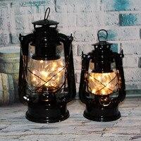 Rétro Lanterne Batterie Lumière Européenne Décoration de La Maison Miniature Meubles Imiter Antique Lanterne Ménage De Noël Ornements
