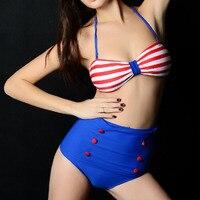 Frauen push up bikini set 12 farben hohe taille bikinis tankini hohe taille unteren zwei stücke bademode frauen badeanzug padded
