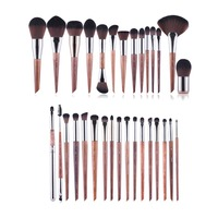 MUFE SERIES 38 Brushes Complete Brush Set Wooden Handle Soft Synthetic Hair Professional Beauty Makeup Brushes Kit Tools
