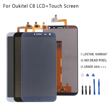 Original For Oukitel C8 LCD Display+Touch Screen Digitizer For Oukitel C8 Display Screen LCD Assembly Phone Parts Free Tools