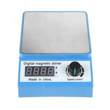 цена на 1 Set Digital Magnetic Stirrer 100-240V 0-3000RPM Portable Magnetic Laboratory Stirrer Mixer Plate Control ZGCJ-3A US Plug