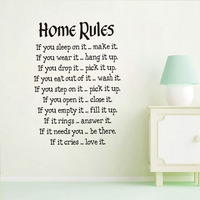 Chinese Factory Design House Rules Wall Stickers Large Wall Decals Text For Living Room Bedroom Home